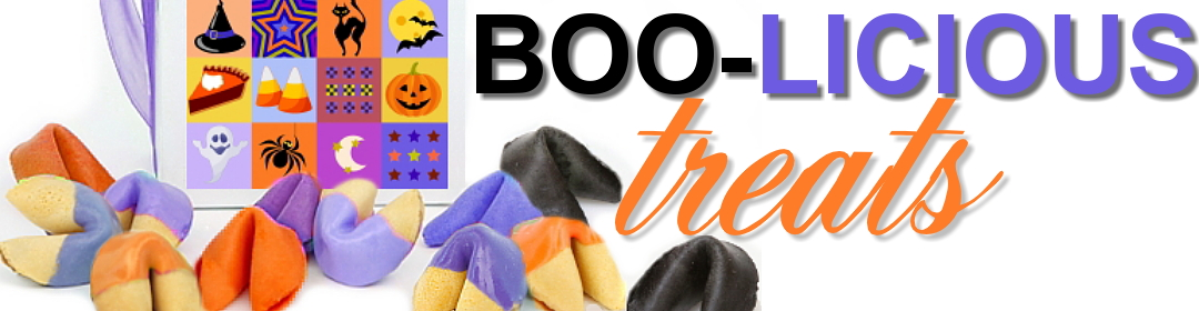 Halloween fortune cookie treats